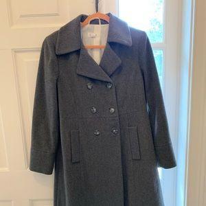 Italian made cashmere women swing pea coat